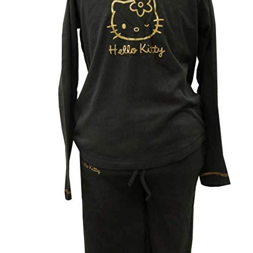 Tessilbianco Shine, Hello Kitty Pijama para Niña Negro S