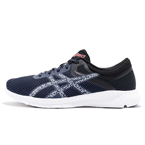 ASICS Men's Dark Blue/Mid Grey/Coralicious Running Shoes-8 UK/India (42.5 EU) (9 US) (T7E3N.4996)