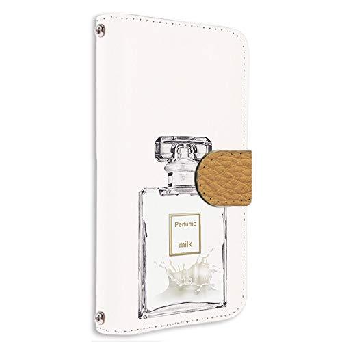 すまほケース 手帳型 カードタイプ arrows NX F-01F 用 [香水・ミルク] ネイル コスメ パフューム FUJITSU 富士通 アローズ エヌエックス docomo けーたいケース けいたいカバー カード収納 スタンド式 [FFANY] perfume aay_190752c