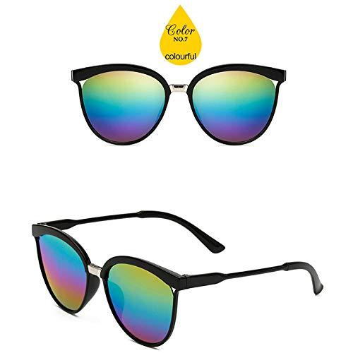 CaramelosGafas de sol de plástico de lujo Mujer Gafas de sol Clásico Retro Uv400 @ Colorido