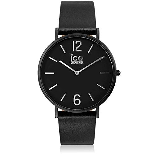 Ice-Watch - CITY tanner Black - Men's (Unisex) wristwatch with leather strap - 001513 (Medium)