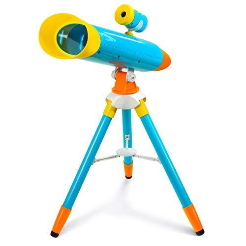Little Experimenter Telescope for Kids – Children Telescope + Projector and 24 Space Images, Including Educational Activity Book – Great Educational and Space Toy for Kids