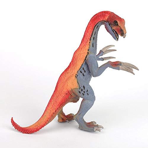 Ftory Juguetes de Dinosaurios: Juguetes de Dinosaurios jurásicos, Modelo de Juguete de Therizinosaurus, Figuras de Dinosaurios prehistóricos realistas, Paquete de Ataque Velociraptor Delta