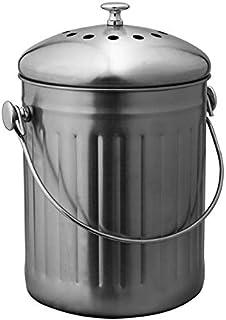 Avanti Stainless Steel Compost Bin, 5 Litre Capacity Silver