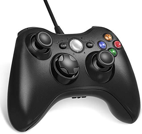 Diswoe&1 Manette Filaire pour Xbox 360, USB Wired Gamepad Game Joystick, Manette du Contrôleur de Jeu Filaire avec Double Vibration, Idéal pour Vos Sessions de Jeux sur Windows7/ 8/10/ PC/Xbox 360