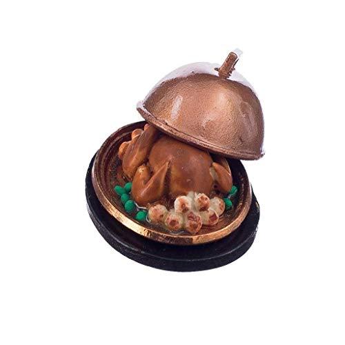 Deanyi 01.12 Puppenhaus Mini Thanksgiving Turkey Puppenstuben Lebensmittel Miniatures Brathähnchen Puppenküchenzubehör