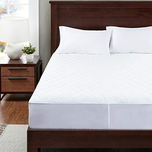 Degrees of Comfort Twin XL Heated Mattress Pad | Zone Heating Electric Bed Warmer W/Auto Shut Off | Fit Up to 15 Inch | 12.5ft Long Cord - 39x80 Inch, White