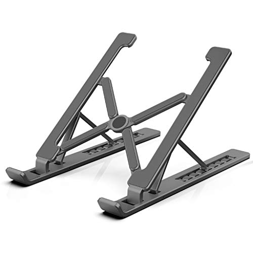 Laptop Stand, Adjustable Aluminum Laptop Holder Cooling Stand for MacBook/HP/Dell/Lenovo, Portable 10'~17' Notebook/Tablet (Color : Deep Gray)