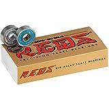 Bones Bearings Big Balls Reds Precision Skate Rated Bearings 8mm 16-Pack