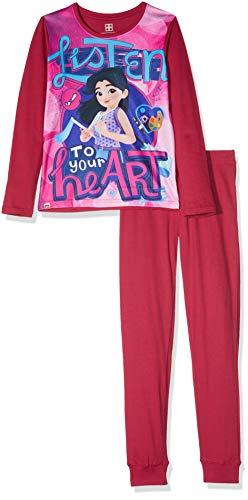 LEGO Mädchen Girl Friends CM-73161 Pyjama Zweiteiliger Schlafanzug, Mehrfarbig (Pink 446), 116
