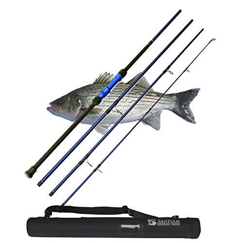 Santiam Fishing Rods Travel Rod 4 Piece 11' 17-40lb Casting Surf Rod
