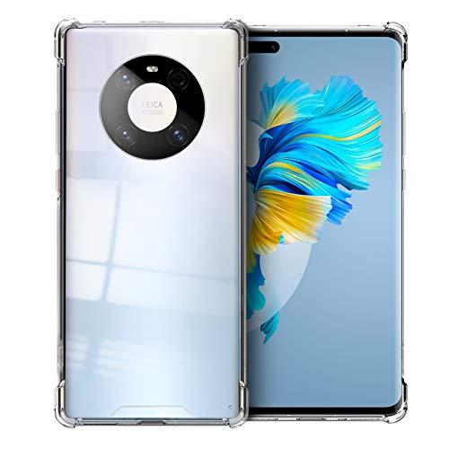 Newseego Handyhülle Kompatibel mit Huawei Mate 40 Pro, Transparent Clear Hülle [Voller Schutz] Anti-Gelb Durchsichtige Stoßfest Schutzhülle, Ultra Dünn Weiche Silikon Bumper Hülle, Transparent