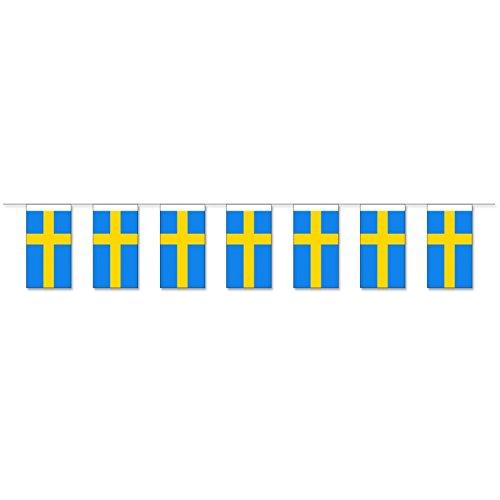 Everflag Papierfahnen-Kette 5m : Schweden