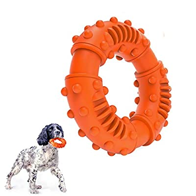 Dog Chew Toy Dog Goughnuts Ring Toy with Almost Indestructible Tough Interactive Breed Teeth Cleaning Rubber for Large Dogs Extreme Aggressive Chewer Dog Pets at Home