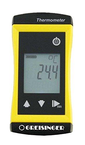 GHM Greisinger G1710 PräzisesUniversalthermometermitfestverbundenemTauchfühler,Ø3mm, Gelb