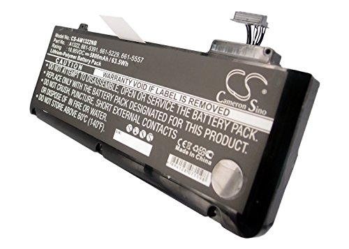Rechargeable Battery for Apple MacBook Pro 13, MacBook Pro 13' 2010 Version, MacBook Pro 13' 2011 Version, MacBook Pro 13' 2012 Version Replacement for Apple 020-6547-A, 661-5229, 661-5391