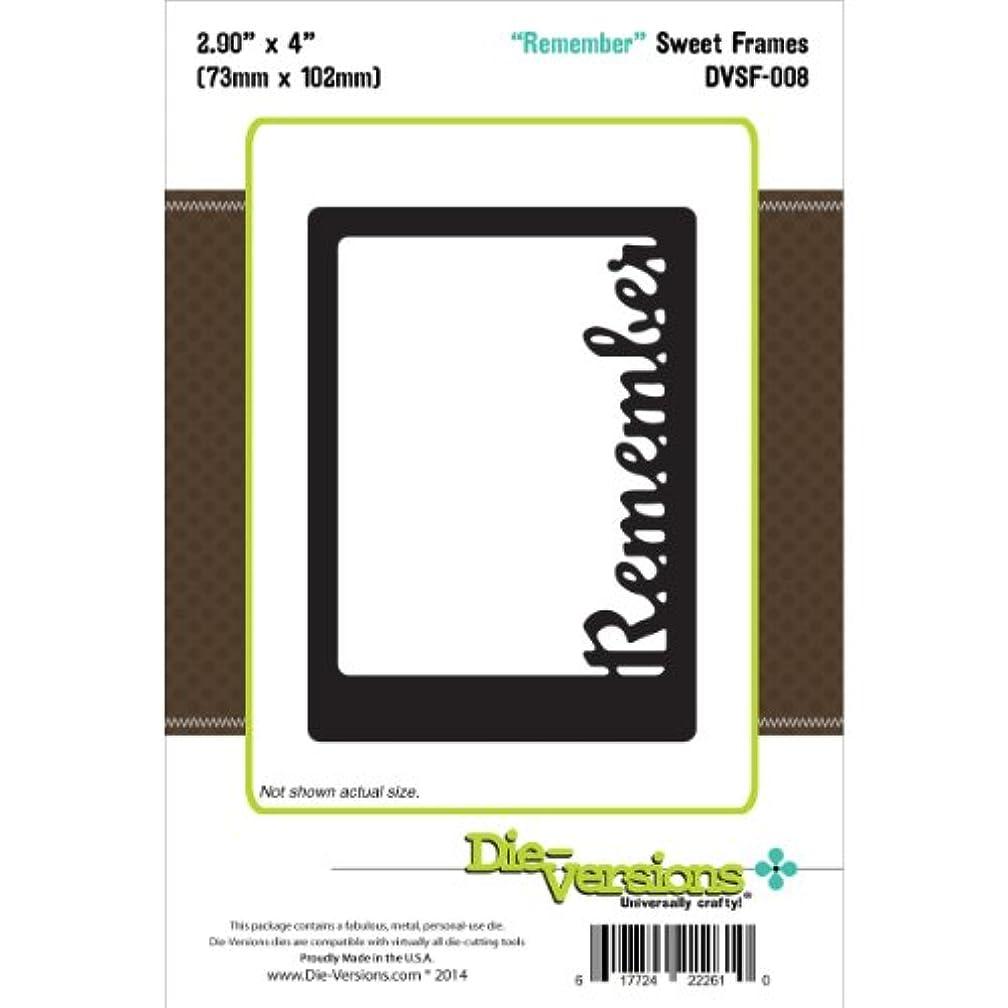 Die-Versions Sweet Frames Die Cuts, 2.9 by 4-Inch, Remember