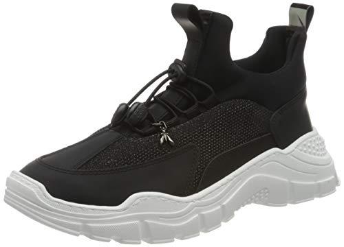 Patrizia Pepe PPJ540 Sneaker, Black + Grey, 31/31.5 EU