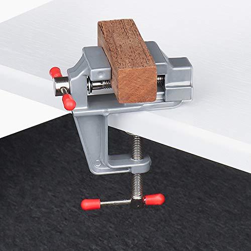 RMENOOR Mini tornillo de mesa universal de 0 a 3,5 mm para banco de trabajo portátil, abrazadera para banco de trabajo, abrazadera para pasatiempos, abrazadera de mesa pequeña