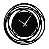 MODERN WALL CLOCK: Designed with vintage black round art styles, these modern time keepers make a decorative addition to your home or living space EASY TO READ AND UNDERSTAND: This wall clock is a fine addition to a household, this is a well-designed...