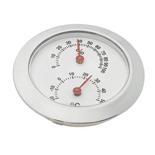 Gazechimp Praktisches Kunststoff Mini Gitarren Hygrometer Für Indoor Outdoor Zubehör Silber