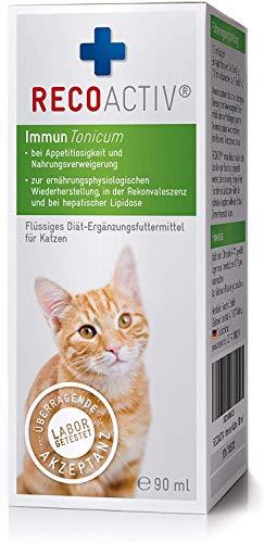 RECOACTIV® Immun Tonicum für Katzen, 90 ml, zur Vorbeugung und Immunstärkung der Katze, wirkungsvoller diätischer Appetitanreger für Katzen bei Appetitlosigkeit