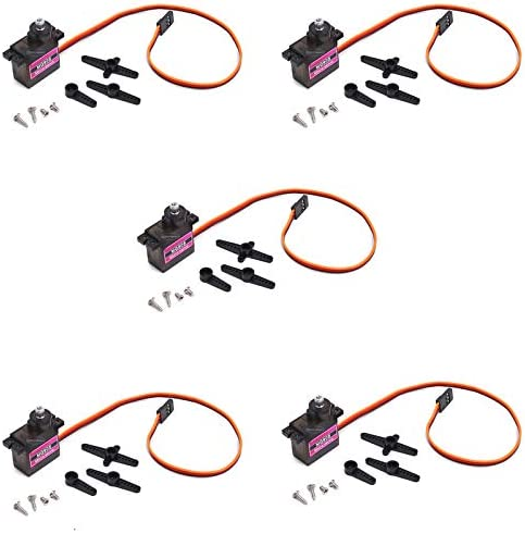 5Pcs MG90S Mini Metal Geared Micro Servo Motor 9G for RC Helicopter Plane Boat Car Trex450 product image