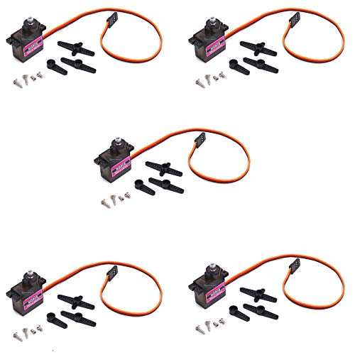 5Pcs MG90S Mini Metal Geared Micro Servo Motor 9G for RC Helicopter Plane Boat Car Trex450