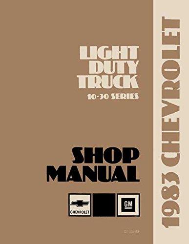 1983 CHEVROLET TRUCK & PICKUP REPAIR SHOP & SERVICE MANUAL INCLUDES:All Light Duty Trucks 4x2, 4x4, Blazer, Suburban, Motorhome Chassis, K-Series, C-Series, P-series