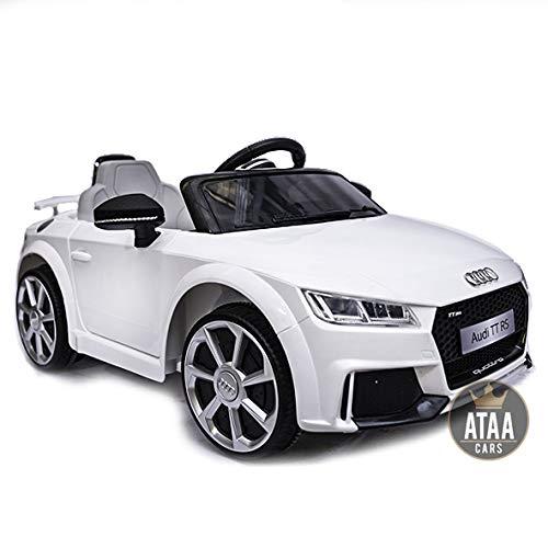 Audi TT RS 12v Licenciado con Mando - Coche eléctrico para niños - Blanco