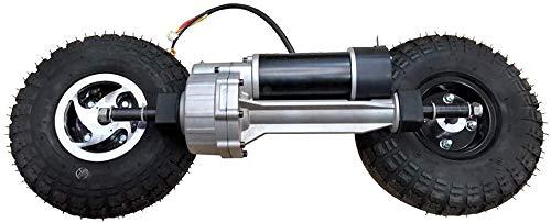 GZFTM Bicicleta eléctrica Eje trasero engranaje con rueda ducer cepillo motor diferencial Triciclo Trolley Scooter eléctrico Eje del conductor