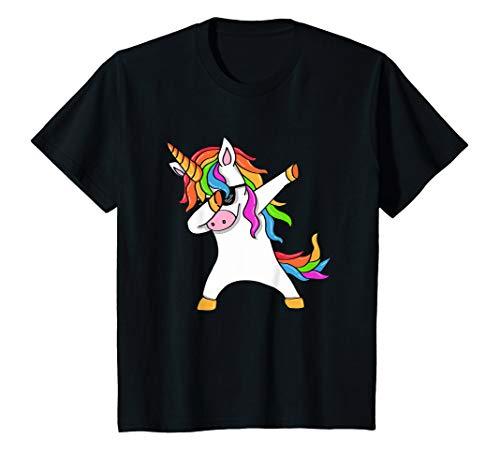 Kinder Einhorn mit Sonnenbrille macht Dab Tanz - Dabbing Unicorn T-Shirt