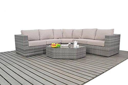 Dallas rústico ángulo de muebles de jardín sofá de esquina Set