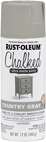 Rust-Oleum 302593 Series Chalked Ultra Matte Spray Paint, 12 oz, Country Gray