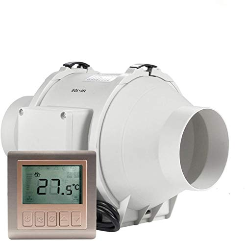 HG Power Ventilador en línea, extractor de temporizador de 4 pulgadas con controlador, ventilador de escape de ventilación para cocina, tiendas de cultivo, taller, hidroponía (?100 mm)