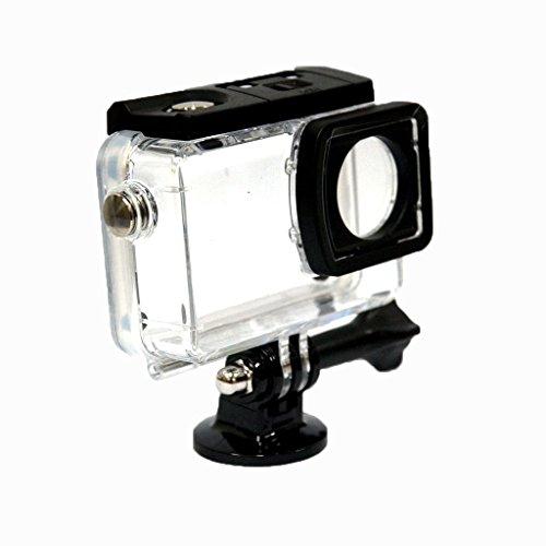 Flycoo Schutzhülle für SJCAM SJ8 Action Kamera mit Befestigungsschrauben und Unterwasserschutz 45 m