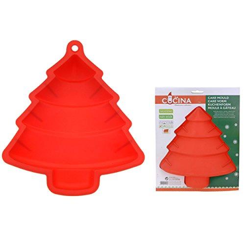 Silikon-Kuchenform Tannenbaum Rot