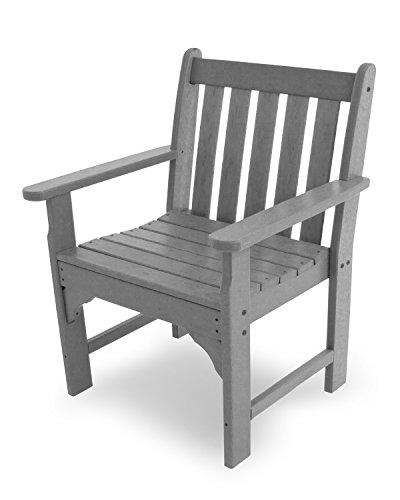 POLYWOOD Vineyard Conversation Chair, Slate Grey