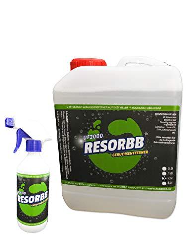 RESORBB® UF2000 Geruchsentferner 2,5l. + 0,5l. Sprühflasche