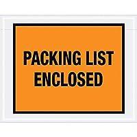 Boxes Fast Tape Logic Packing List Enclosed Envelopes 7 x 5 1/2 Orange (Pack of 1000) [並行輸入品]