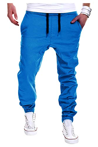 Cargo Pants Uomo Elastico Caviglia Hip Hop Streetwear Danse Pantaloni Cavallo Basso Ragazzo Sport Baggy Harem Cigarette Pants Pantalone da Jogging Fitness Casa Pigiama Casual Trousers Sweatpants Moda