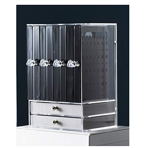 cosméticos caja para Joyería de escritorio caja pendiente joyas caja de almacenamiento Pendientes Rack de almacenamiento estante de exhibición de gran capacidad multifuncional organizador de maquillaj