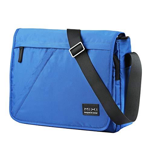 Umhängetasche, Messenger Bag wasserdichte Waschbare Schultertasche für A4 Datei, 14