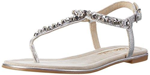 Buffalo Shoes Damen 14BU0155-6 PU Zehentrenner, Silber (Silver), 42 EU