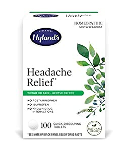 HEADACHE RELIEF: Homeopathic headache and tension relief pills TOUGH ON PAIN: Natural active ingredients, No acetaminophen, no ibuprofen, no caffeine SAFE & GENTLE ON YOU: non-habit forming, no known drug interactions or side effects. Gentle on stoma...