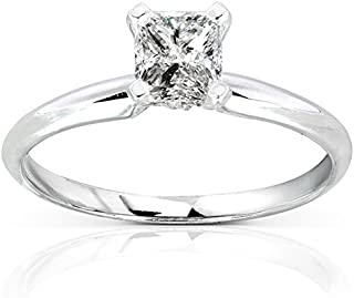 Diamond Solitaire Engagement Ring 1/2 Carat (ctw) in 14k White Gold