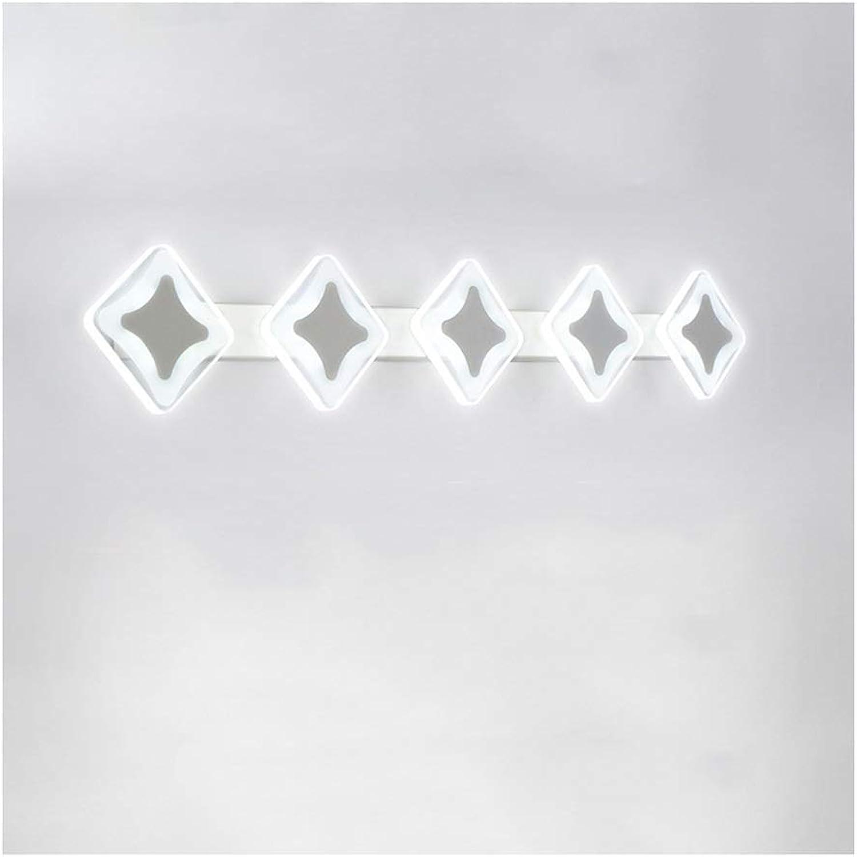 BAIF Badezimmerspiegelleuchten Spiegelleuchte, Badezimmerspiegelleuchte Wasserdicht Nebel Mehrfachlichtquelle [Energieklasse A +] (Farbe  WeißLight, Gre  78cm   5 Kpfe)