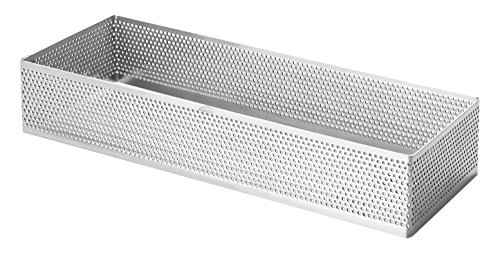Lacor - 68590 - Molde Aro Rectangular Perforado 7 x 20 x 2 c