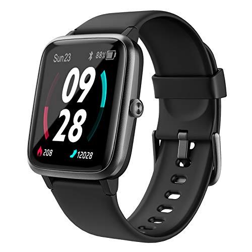 Holabuy Smartwatch, Orologio Fitness Uomo Donna con GPS Integrato, Cardiofrequenzimetro da Polso Impermeabile IP68 con previsioni del Tempo, Activity Tracker con Contapassi Cronometro per Android iOS