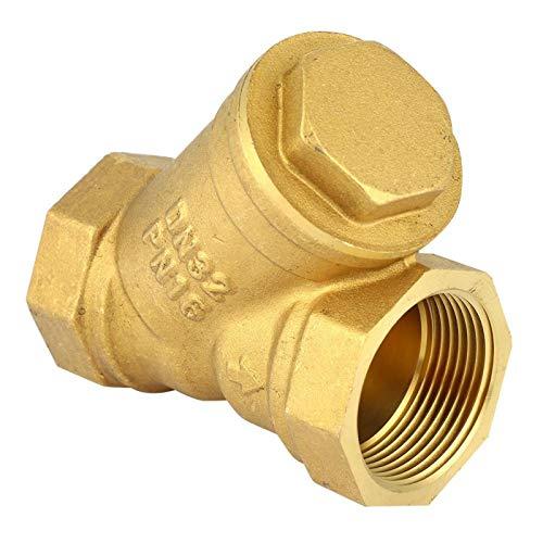Jopwkuin Válvula de conexión de Rosca Hembra Válvula de filtración Tipo Y colador para Agua, gasóleo
